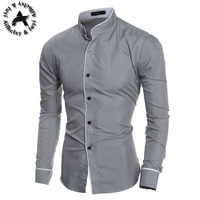 Men French Cufflinks Shirt 2016 New Men S Shirt Long Sleeve Casual Male Brand Shirts Slim