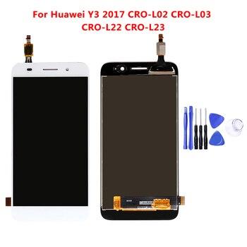 5.0 אינץ מלא LCD תצוגה + מסך מגע Digitizer עצרת עבור Huawei Y3 2017 CRO-L02 CRO-L03 CRO-L22 CRO-L23