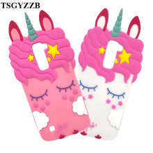 цена на For Capa LG K10 Case Unicorn Horse Soft Silicone Phone Cover For LG K10 / K10 Lte 2016 K420N M2 K410 K430 K430DS F670 Dual 5.3