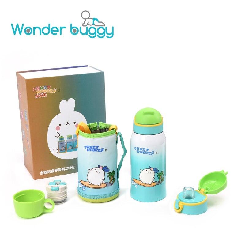 600ML en acier enfants tasse tasse trois couvercles Exchang Cartoon 316 en acier inoxydable enfants bouteille à boire avec sac pour enfants cadeau