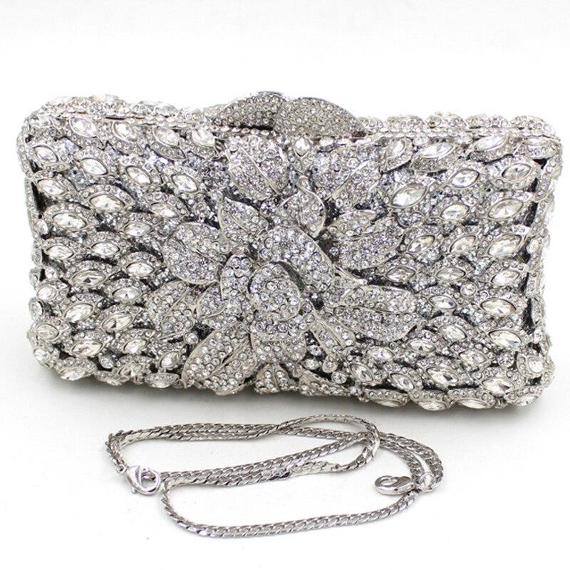 652e2204f6 Mini Size Silver Clutch Bag for Women UK Sale White Silver Clutch Purse for  Wedding Days