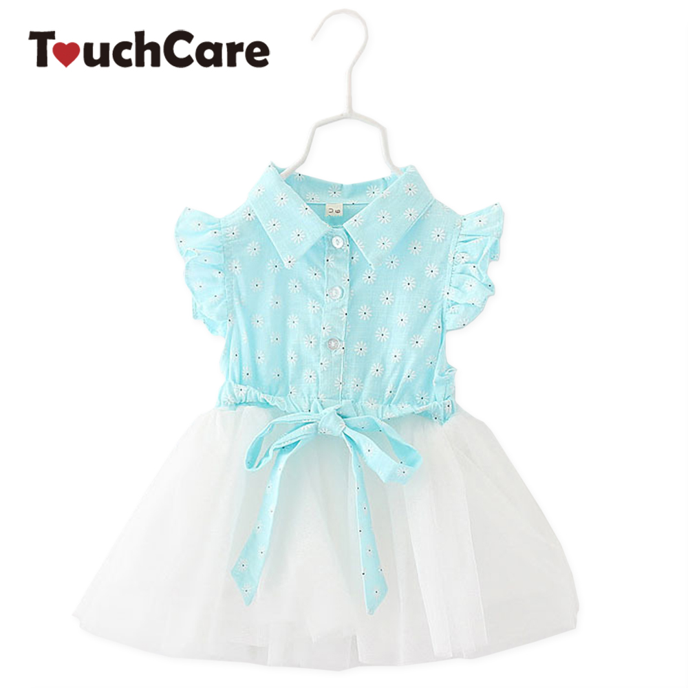Clearance Bowknot Baby Christening Dress Flying Sleeve Baby Girl Dress Lace Mesh 1year Birthday Dress Baby Princess Dress