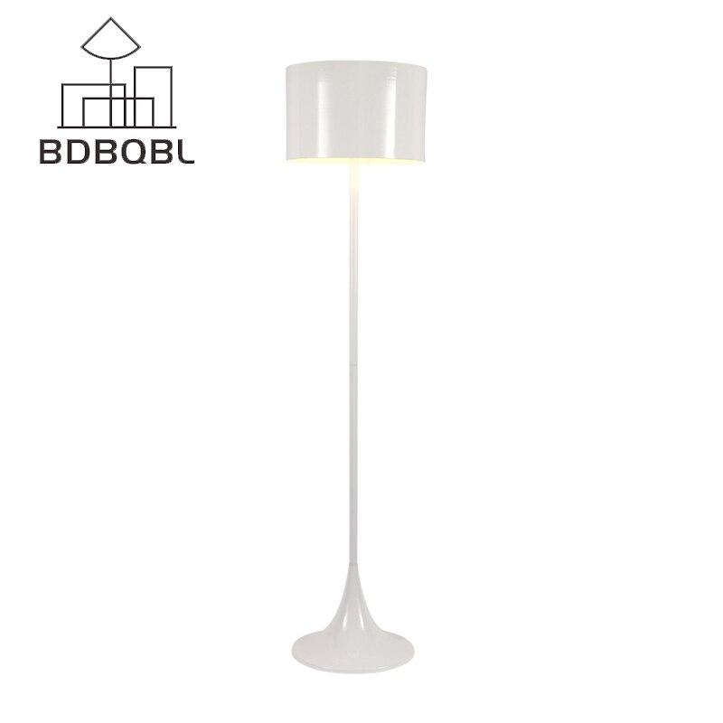 BDBQBL Modern Design Gesponnen Licht F Floor Lamp AC 90 260V Black/White  Metal Stand Light For Living Room/Bedroom E27 LED Bulb