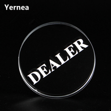 Yernea New Texas Holdem Crystal DEALER Poker Chips Poker Table Special Crystal Chip Matching Accessories Transparent DEALER цена в Москве и Питере