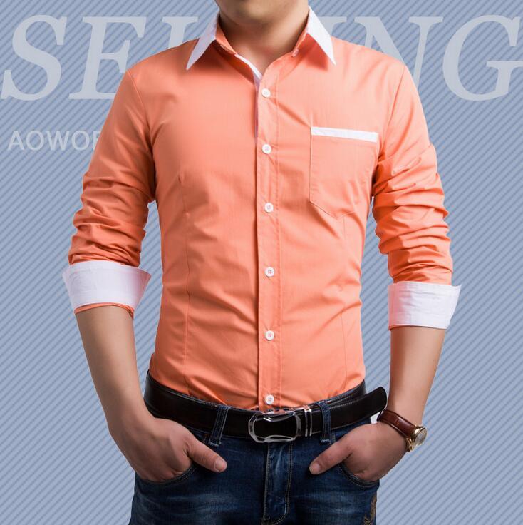 Fashion Business Cufflinks Formal Slim Fit Men Dress Shirts Social ...