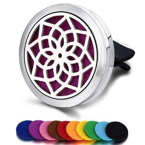 Image 5 - Ambientador de aire para coche, difusor de perfume, pinza de ventilación automática, aceite esencial, medallón (10 recambios gratis), c001