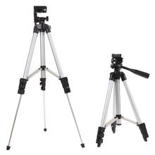 Caliente videocámara cámara profesional trípode cámara digital monopod soporte holder + soporte para teléfono + nylon bolsa de transporte para el iphone samsung