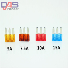 Micro3 Fuse 3Pins High Quality PEC Automotive Car Fuse JEEP 5A 7.5A 10A 20A велотренажер proteus pec 3320