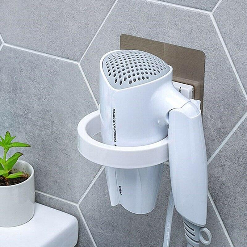 1 Pc Innovative Wall-mounted Hair Dryer Bathroom Shelf Storage Hairdryer Holder For Hairdryer