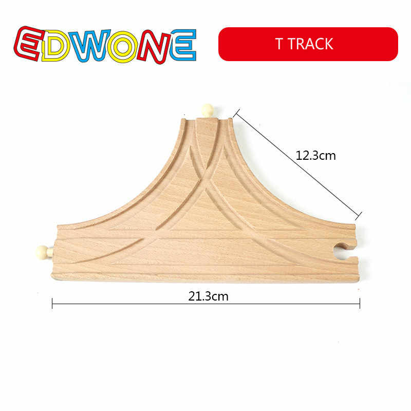 EDWONE ใหม่ทุกชนิดไม้ TRACK อะไหล่ Beech ไม้รางรถไฟของเล่นอุปกรณ์เสริม Fit Thomas Biro ไม้แทร็ค