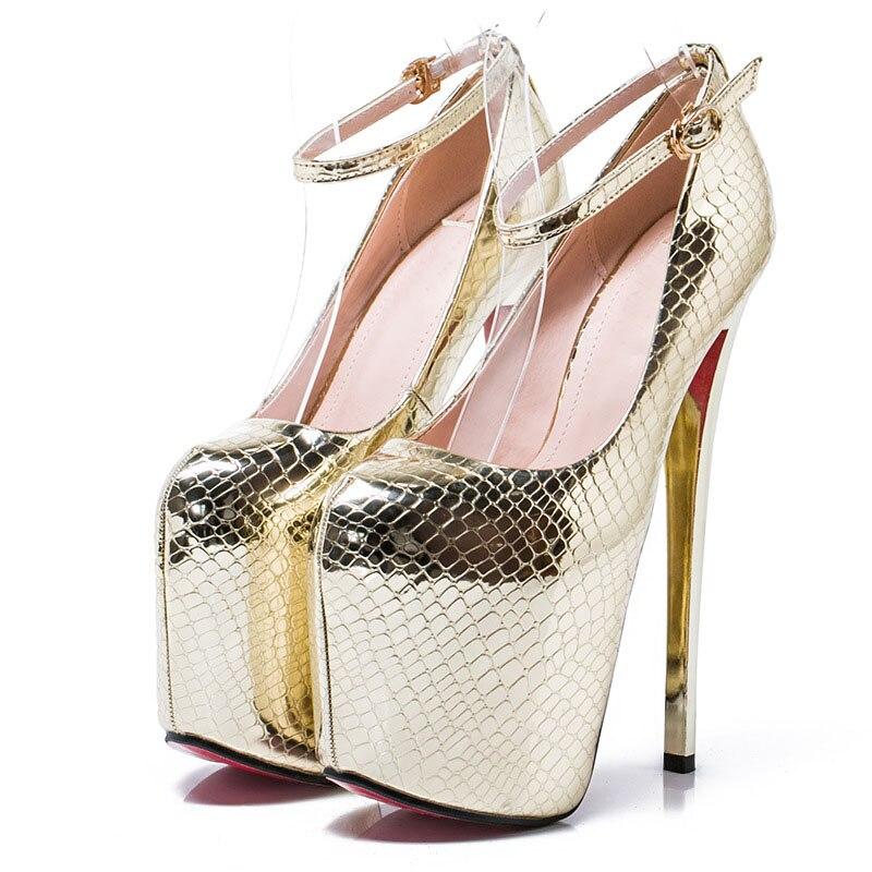 Pompes Gold Serpentine Sexy Mode Des Talon Mince Super 43 Plate Talons Grand Joyhopy Taille 34 Mariage 20 De Femmes Chaussures forme Cm silver Haute wYBxXCqT