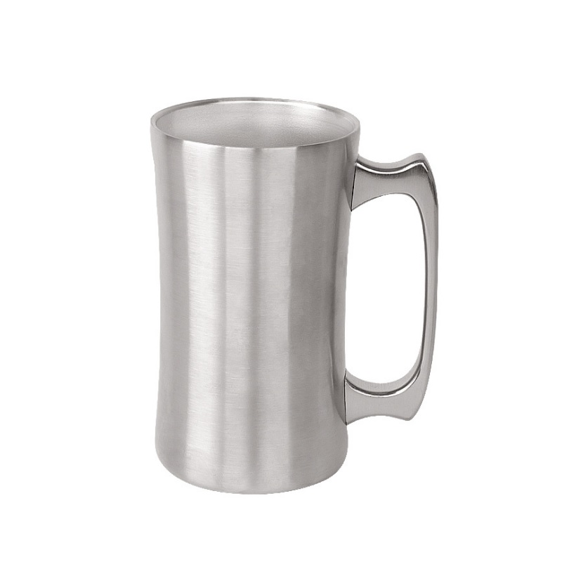 10pcs <font><b>20oz</b></font> stainless steel beer <font><b>mug</b></font> with handle double wall vacuum big capacity beer cup for cocktail tea coffee W9926 image
