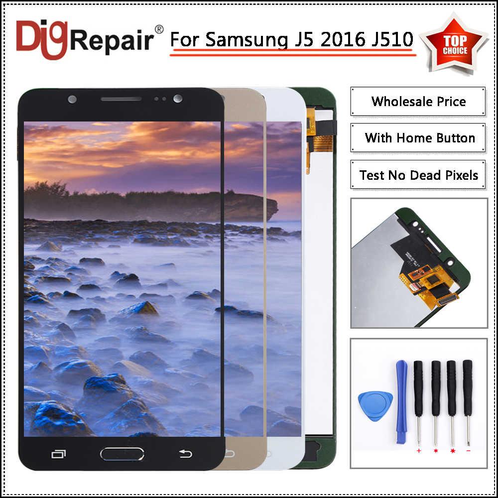 J510fn lcd لسامسونج غالاكسي J5 2016 عرض J510 J510F J510M J510Y J510FN LCD عرض محول الأرقام اللمس شاشة j510f lcd عرض