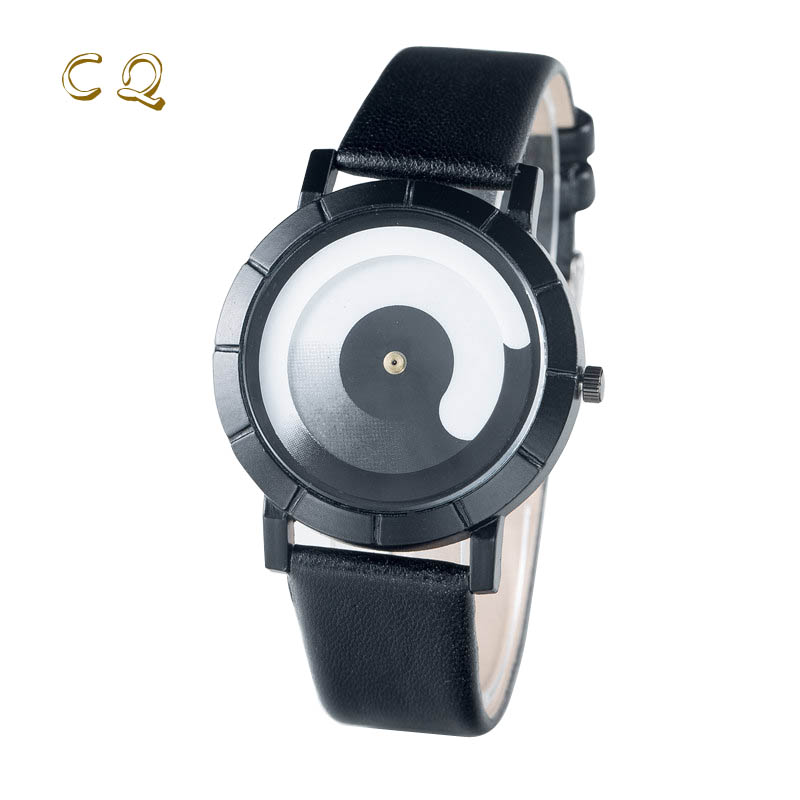 2017 New Design Many color Minimalist Fashion quartz man watch and Neutral Round women watch Leather Lovely Creative watch 10