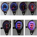 5pcs 7 Styles Motorbike Motos La Moto Dual Odometer Speedometer Motorcycle Universal LED Backlight Gauge Signal Lights Meter ATV