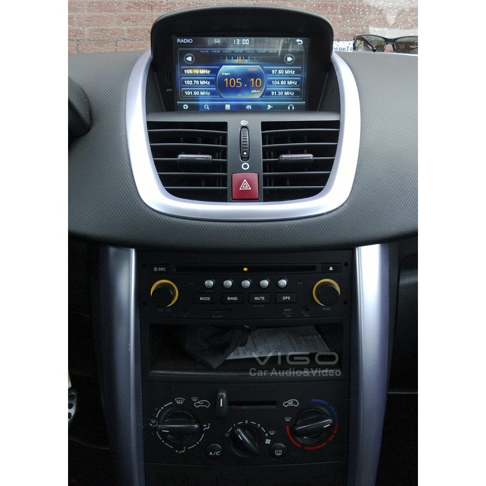 car stereo gps navigation for peugeot 207 2006 2011. Black Bedroom Furniture Sets. Home Design Ideas
