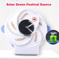 Electric Solar Energy Automatic Flycatcher Fly Trap Pest Reject Control Catcher Mosquito Flying Fly Killer Artifact Catcher