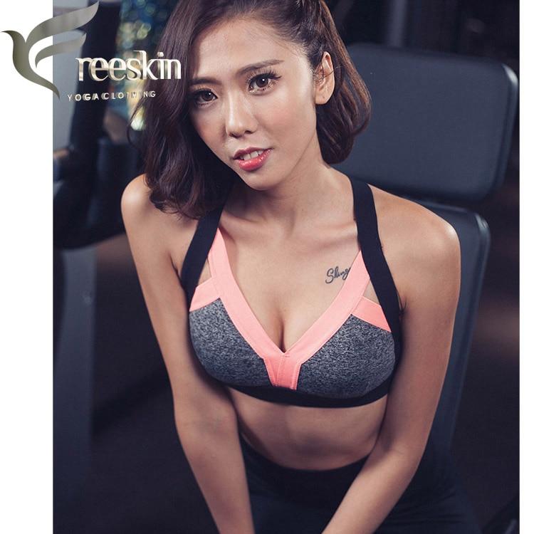 63cb32798407d Zhangyunuo Women Yoga Bra Plus Size Patchwork Sports Bra Gym Cross Backless  Bra Yoga Padded Mujer