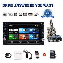 Car Stereo -6.2″ Double Din Car Radio Car Audio Headunit Car DVD Player In Dash GPS Navigation AM/FM Touch Screen Bluetooth USB