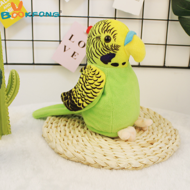 Cute Electric Talking Parrot Toy Speaking Record Repeat Waving Wings Electronic Bird Stuffed Plush Toy Kids Gift At Any Cost Stuffed Animals & Plush