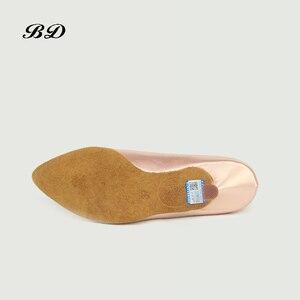 Image 5 - 소녀 운동화 댄스 신발 볼룸 여성 라틴 신발 현대 재즈 수입 새틴 내마 모성 단독 BD 138 편안한 샤인