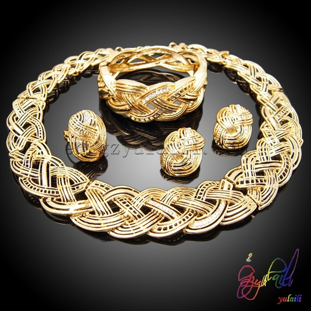 Free shipping Italian gold jewelry sets jewelry fashion sets indian