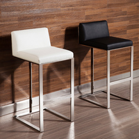 Nordic style creative stainless steel high bar chair modern minimalist high stool home high bar chair