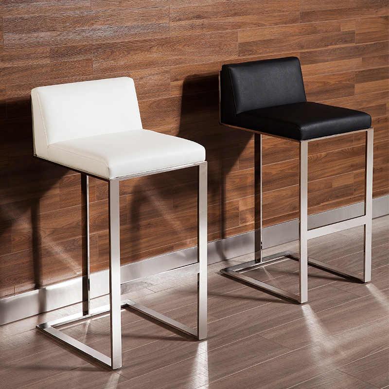 Nordic стиль творческой нержавеющей стали высокий барный стул современный минималистский высокого стула дома высокий барный стул