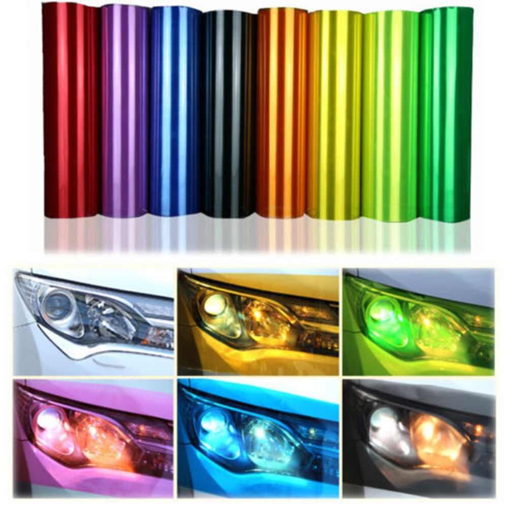 Förderung! 30x60cm Auto Tönung Mode Scheinwerfer Rücklicht Nebel Licht Vinyl Rauch Film Blatt Aufkleber Abdeckung Auto Styling Für alle Autos