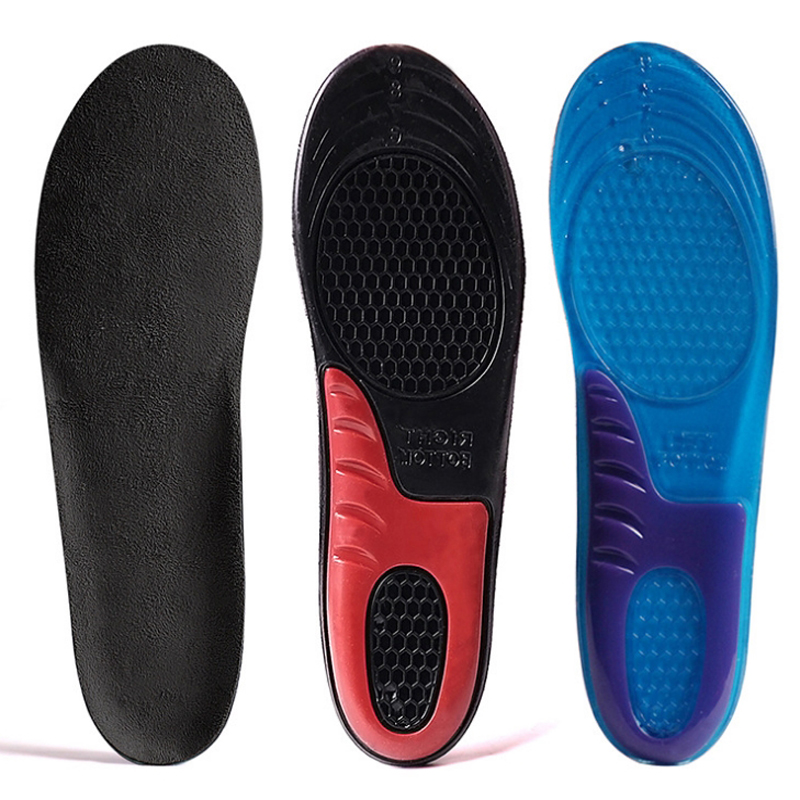 NEW Man Women PU Gel Orthotic Running Shoes Insole Insert Pad Arch Support Cushion Feet Protect Damping Shoe Insoles Gel