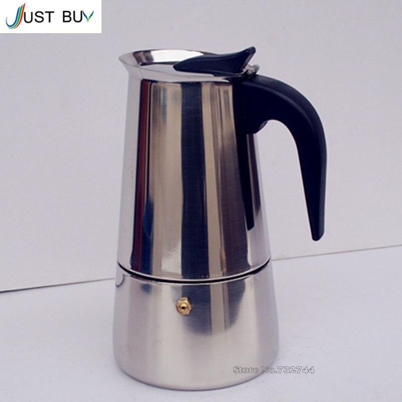 Newest 2/4/6/9 Cups Moka Pot Caffe Machine Espresso Cups Coffee Makers Latte Percolator Stove ...