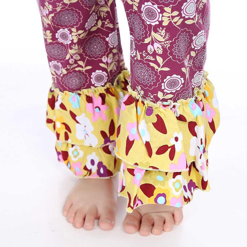 Kaiya Angel chaud bébé fille enfants vêtements Boutique vêtements tenue bordeaux Floral bavoir automne enfants vêtements usine en gros