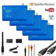 Koqit бесплатный интернет спутниковый ресивер ТВ тюнер DVB-S2 цифровой рецептор ТВ коробка декодер USB Wifi Youtube vu Biss ключ PVR светодиодный IR