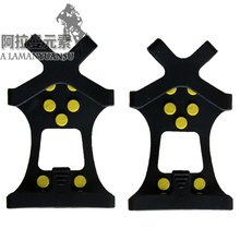 1Pair Free Shipping Ice Snow Shoes Spike Grip Boots Crampons Grippers 10 Studs Anti Slip Hot Selling
