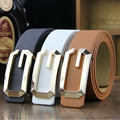 2016 Fashion Classic Geometric Metal Buckle Designer Famous Brand Luxury Belts For men Waist Strap Faux Cowskin Leather Man Belt