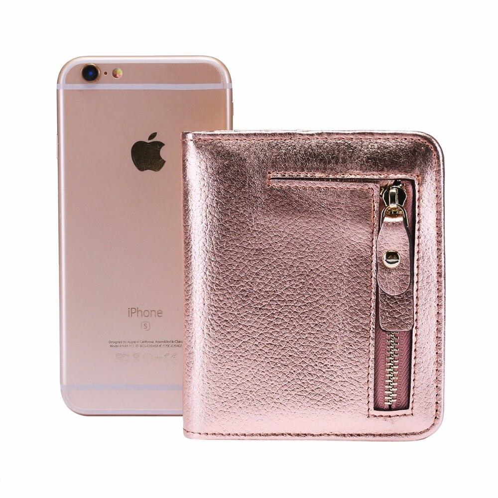 Купить с кэшбэком New arrival women genuine leather flower pattern small wallet short compact bi-fold with zipper coin pocket Leather mini purse