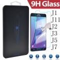For Samsung Galaxy J1 J110 Ace J2 J3 J5 J7 2016 New 9H HD Clear Case Tempered Glass Screen Protector Film Cover Retail Pack Box