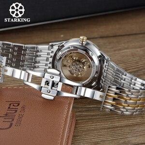 Image 4 - Reloj Mecánico STARKING, de lujo, de acero inoxidable, con esqueleto hueco, automático, para mujer, Hodinky Damske, 5atm, AL0185