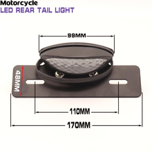 Motorcycle Quad ATV Brake Running License Plate Tail Light 12V Hot Smoke Lens LED DIRT BIKE