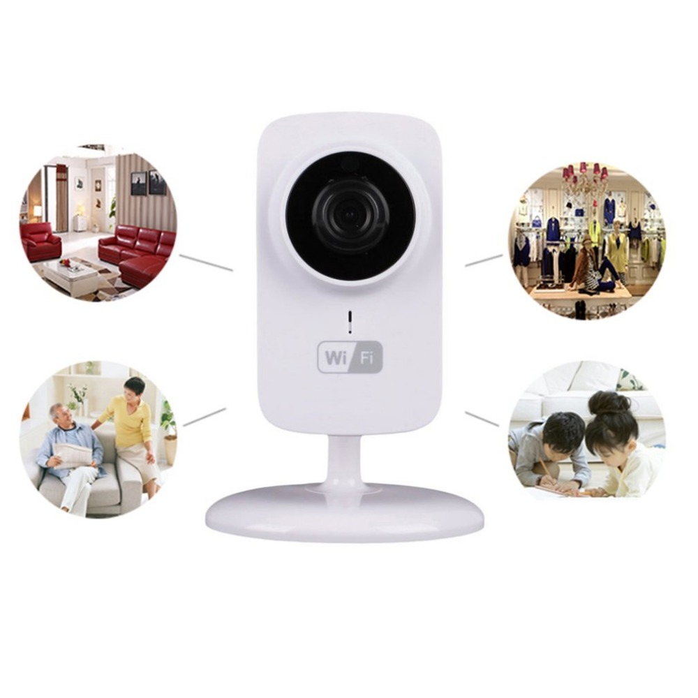 Mini IP WIFI Camera Home Safety Two-way Audio Support TF Card CCTV Security Camera Surveillance Monitor V380-S1 1 4 cmos 720p 1mp security cctv camera two way audio ir cut video surveillance night vision wifi ip camera support 64g tf card