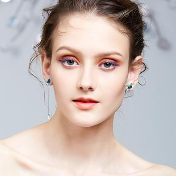Cdyle 925 Sterling Silver Bird Earrings Embellished with Crystal Stud Earrings for Women Piercing Oreja