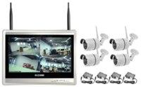Wireless Security Camera System 4CH CCTV NVR Kit 1080P 4pcs Outdoor Bullet IP Camera HDMI 12