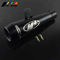 Exhaust Pipe 51MM Motorcycle Scooter Exhaust Pipe Moto Escape GP Pot Silencer For M4 Motocross Dirt Pit Bike Cross ATV Slip on
