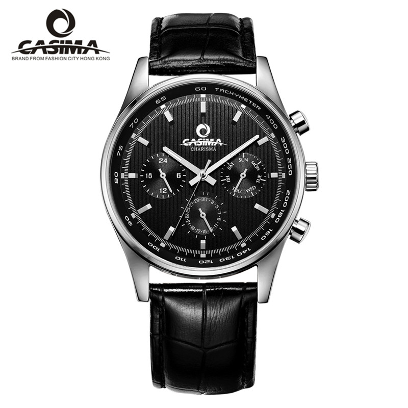 Luxury Brand CASIMA Business Men Watches reloj hombre Dress Men Quartz Watch montre Waterproof 100m Male clock erkek kol saati yazole brand lovers watch women men watches 2017 female male clock leather men s wrist watch girls quartz watch erkek kol saati