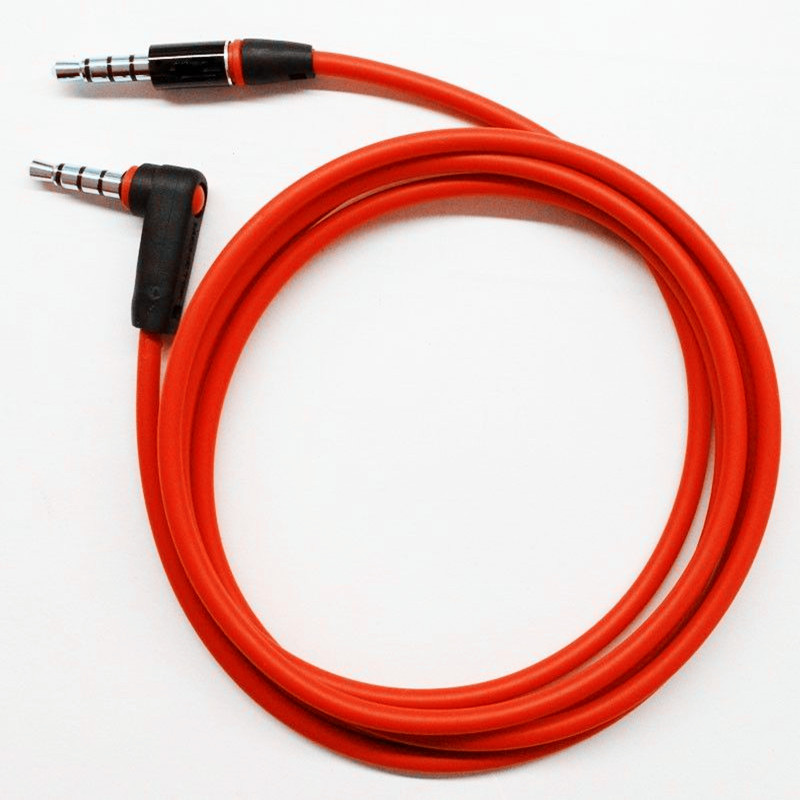 Right-angle Head 3.5mm TRRS Male to Male Stereo Audio Aux Extension Cable