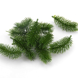 Image 2 - 10pcs Artificial Plastic Green Pine Plants Branches Wedding Home Party Decorations DIY ChristmasTree Handcraft Accessories
