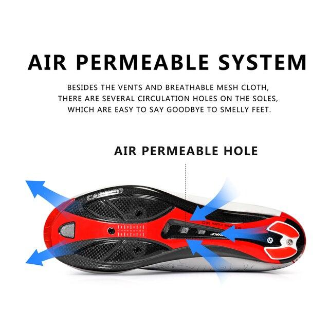 Sidebike ciclismo de estrada homens sapatos de corrida sapatos de bicicleta de estrada de carbono ultraleve auto-bloqueio de bicicleta sneakers respirável profissional 4