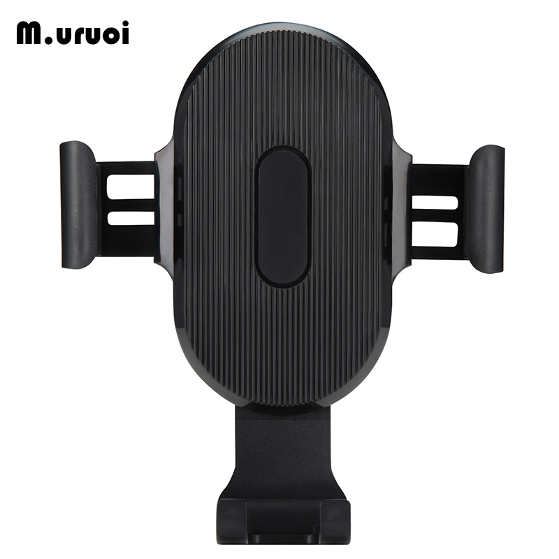 M.uruoi Qi Car Wireless Charger For iPhone 8/X/Xs Fast Wireless Charging for Samsung S9 S10 Xiaomi Car Phone Holder Charger