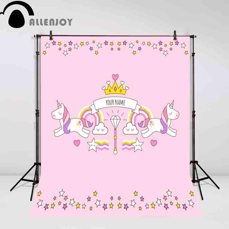 Allenjoy Unicorn Backdrop Photo Background Birthday Background Pink