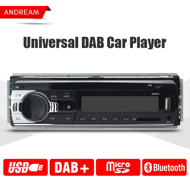Universal 1din DAB Car Player Radio stereo bluetooth car-styling Support USB / SD Card / AUX Input Digital audio broadcasting dc 5v bluetooth audio receiver module usb tf sd card decoding board preamp output support fat32 system